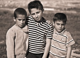 Some of the children at Awal Village, outskirts of Sulaymaniyah, northern Iraq.